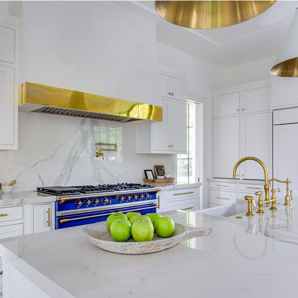 Pietra Kitchen With Gold Accents