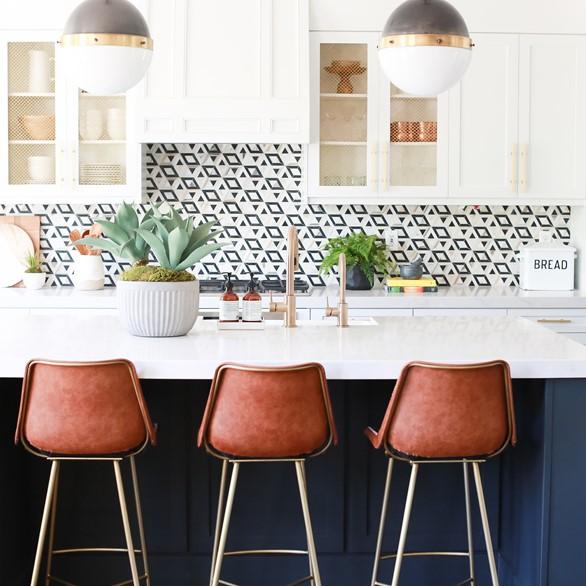 Kelly Wearstler Liaison Doheny Kitchen Backsplash