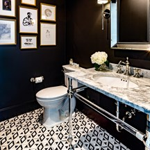 Kelly Wearstler Graphic Bathroom Floor